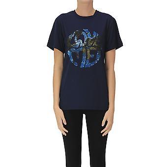 Alberta Ferretti Ezgl095068 Damen's blau Baumwolle T-shirt