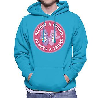 Care Bears Cheer Bear e Best Friend Bear Always A Friend Men's Hooded Sweatshirt