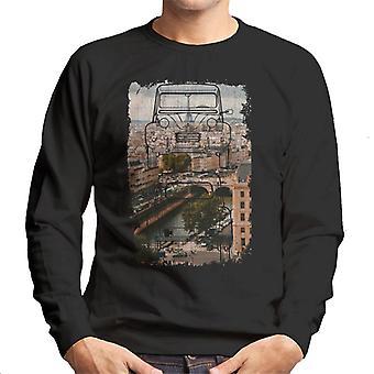 Citro n 2CV Retro tegning over Paris Mænd's Sweatshirt