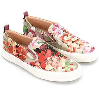Gucci women's slip on in floral print leather