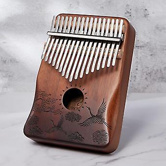 קלימבה 17 מפתח מהגוני אגודל - כלי נגינה לפסנתר