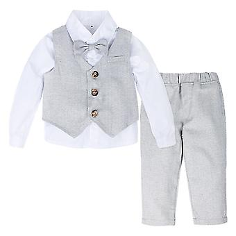 Baby Formal Suit, Infant Blazer Outfit Winter Long Sleeve Clothes Set