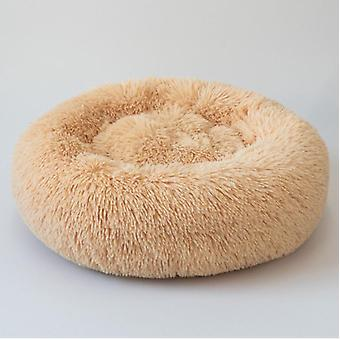 Faux Fur Dog Beds, Orthopedic Donut, Cat Pet For Self Warming Indoor Round