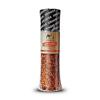 All purpose sweet & smoky seasoning & bbq rub giant grinder 245g/8.6oz perfect for all meats easy to