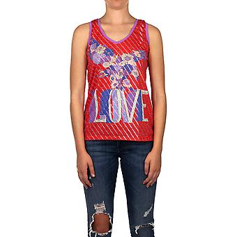 Custo Barcelona Vrouwen T-shirt Daled Top Love Red Multicolor