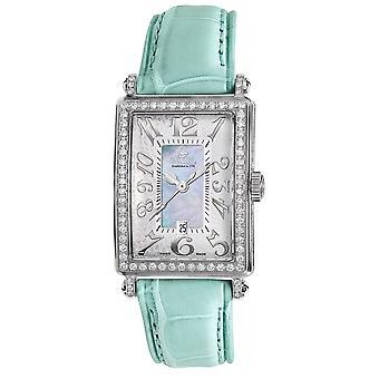 Gevril Mujeres&s 7247NV Mini Quartz Avenue of Americas Diamond Watch