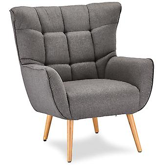 Ibbe Design Puk Lounge Stuhl grau Stoff, 83x86x97 cm