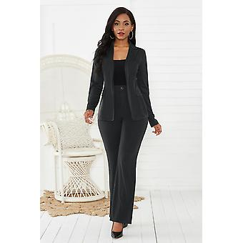 Women's Suit Office Two Piece Set, Long Sleeve Pants, Female Winter Sets