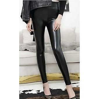 High Waist Leather Leggingss Tights