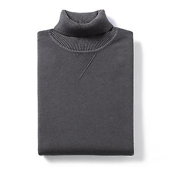 Autumn Plain Turtleneck Sweater, Pullover Casual Slim Jumper For Male, Knitted