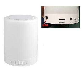Langaton Bluetooth-kaiutin, kannettava led-yön valokoskettimen ohjaus