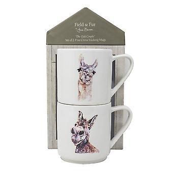 Jane Bannon The Odd Couple Mug Set (Pack of 2)