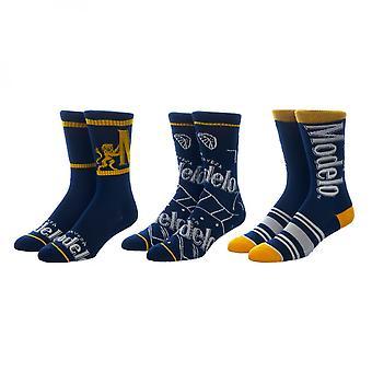 Modelo Especial Symbols and Branding 3-Pair Pack of Crew Socks