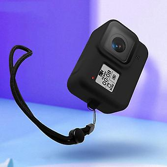 Amzer Shockproof Silicone Case With Lanyard For Gopro Hero8 - Noir