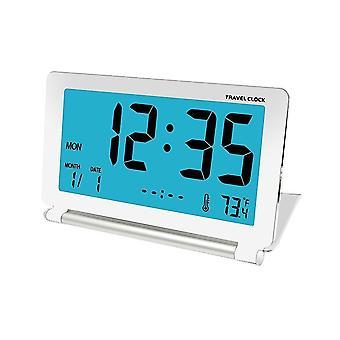 Sveglia da viaggio Dc-12 lcd mini scrivania digitale pieghevole allarme elettronico con retroilluminazione