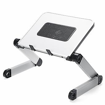30*24Cm foldable with cooling fan hole aluminum laptop computer desk tv bed computer mackbook desktop holder small table