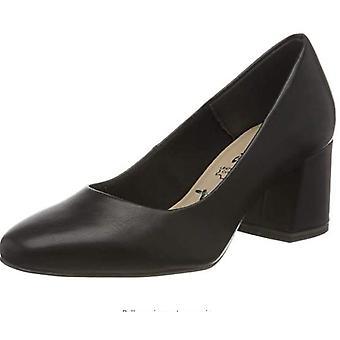 Czarne matowe buty na środkowy obcas