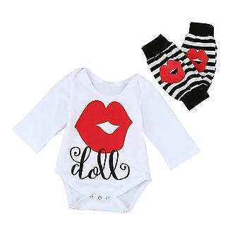 Baby Boy Girl Cute Lip Print Tops Romper Clothes