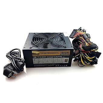 Pc Desktop Psu Gold 1800w Btc Virtalähde R9 380 Rx 470 Rx480 6 Gpu Kortit