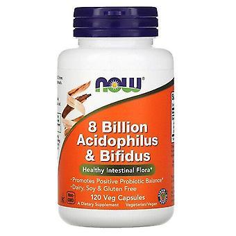 Nu Foods, 8 miljard Acidophilus & Bifidus, 120 Vegetarisch Capsules