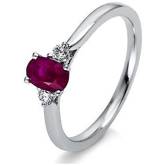 Luna Creation Promessa Anel De Cor Stone 1F035W454-1 - Largura do anel: 54