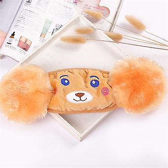 Winter Plush Cartoon Cotton Warm Earmuffs, Mouth And Ear Cover