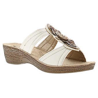 Inblu infer womens ladies wedge sandals white UK Size