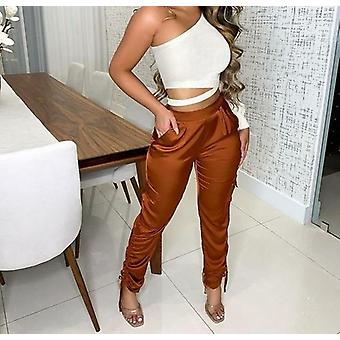 Loose Pleated Ruched Harem Pants