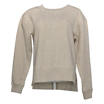 Kirkland Signature Women's Fleece Crewneck Sweatshirt Beige Pullover