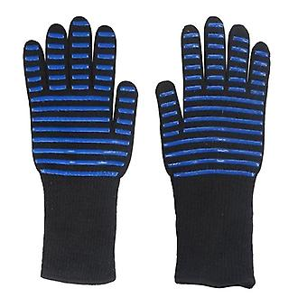 High Temperature Resistant Bbq Fire Gloves, Flame Retardant, Non-slip,
