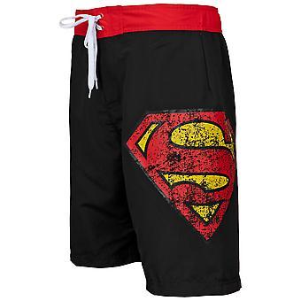 Superman Symbol Shorts noir de planche de bain