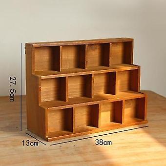 Desktop Cabinet Computer Monitor Screen Increased Shelf