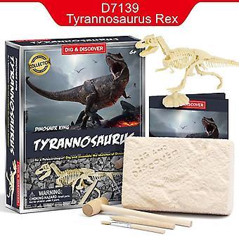 Children Diy Dinosaur Digging Jurassic Animals Dinosaur Skeleton Fossil Toy