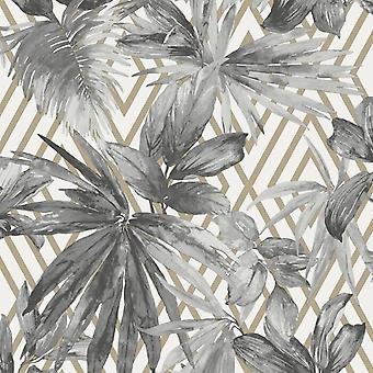 Forage Silver Geo Wallpaper