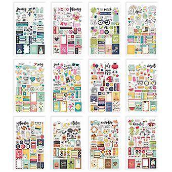 Simple Stories - Carpe Diem Planner Essentials - Seasons Mini Sticker Tablet