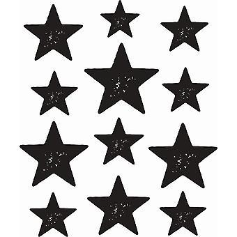 Hampton Art Wood Mounted Stamp - Star Background
