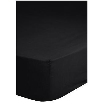 spanbed lakan jersey 140 x 200 cm bomull svart