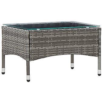 vidaXLコーヒーテーブルグレー60 x 40 x 36 cmポリラタン