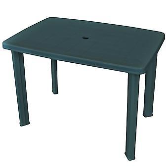 vidaXL Garden table green 101 x 68 x 72 cm plastic