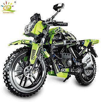 518Pcs Speed Champion Motorbike Building Blocks