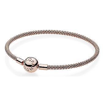 PANDORA Rose Gold-Tone Sterling Silver Rose Mesh Bracelet 19 - 586543-19