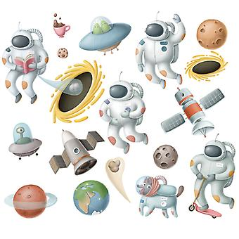 Space And Planet  Wall Sticker Home Decal (size: 60cm X 53cm)