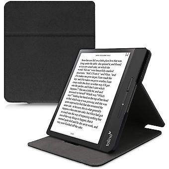 Wokex Hülle kompatibel mit Tolino Epos 2 - Schlaufe Ständer - e-Reader Schutzhülle - Schwarz