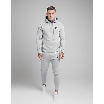 New SikSilk Men's 1/2 Zip Poly Hoodie Grey