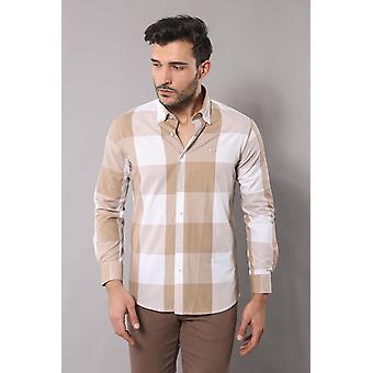 Plaid beige shirt | wessi