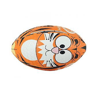 Optimum Sport Hand Stitched Rubber Tiger Print Rugby Ball - Midi
