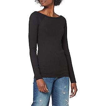 G-STAR RAW Rib Deep Back Slim T-Shirt, Dk Svart C534/6484, XS Kvinnor