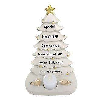 David Fischhoff Daughter Christmas Tree With Flickering Led Candle Light Memorial Ornament