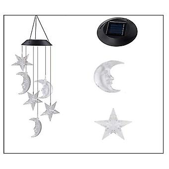 Swotgdoby Solar Moon Wind Chimes For Outside, Decor For Garden, Patio, Yard, Home