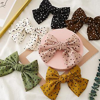 Chiffon double-layer bow barrettes spring clip summer girl updo hair